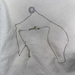 Nadri sterling silver necklace cubic zirconia